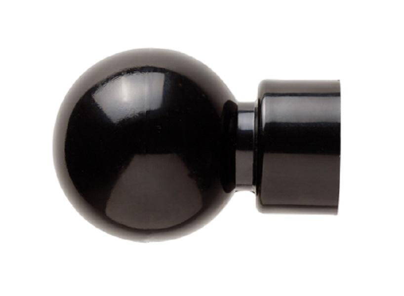 25 mm Plastic Ball Finial Black
