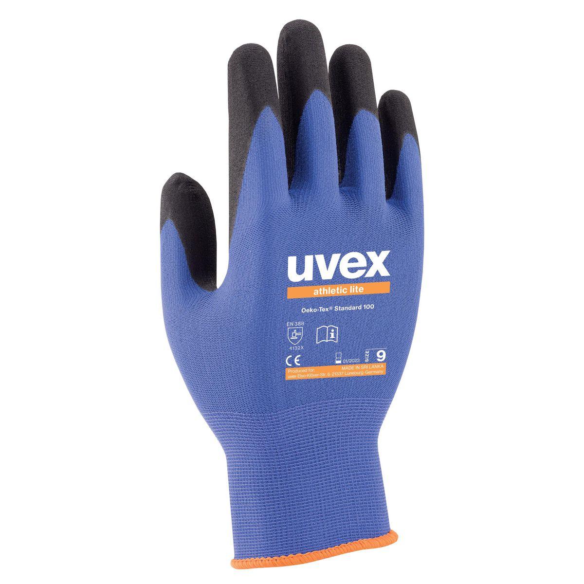 uvex athletic lite Safety Gloves - 10