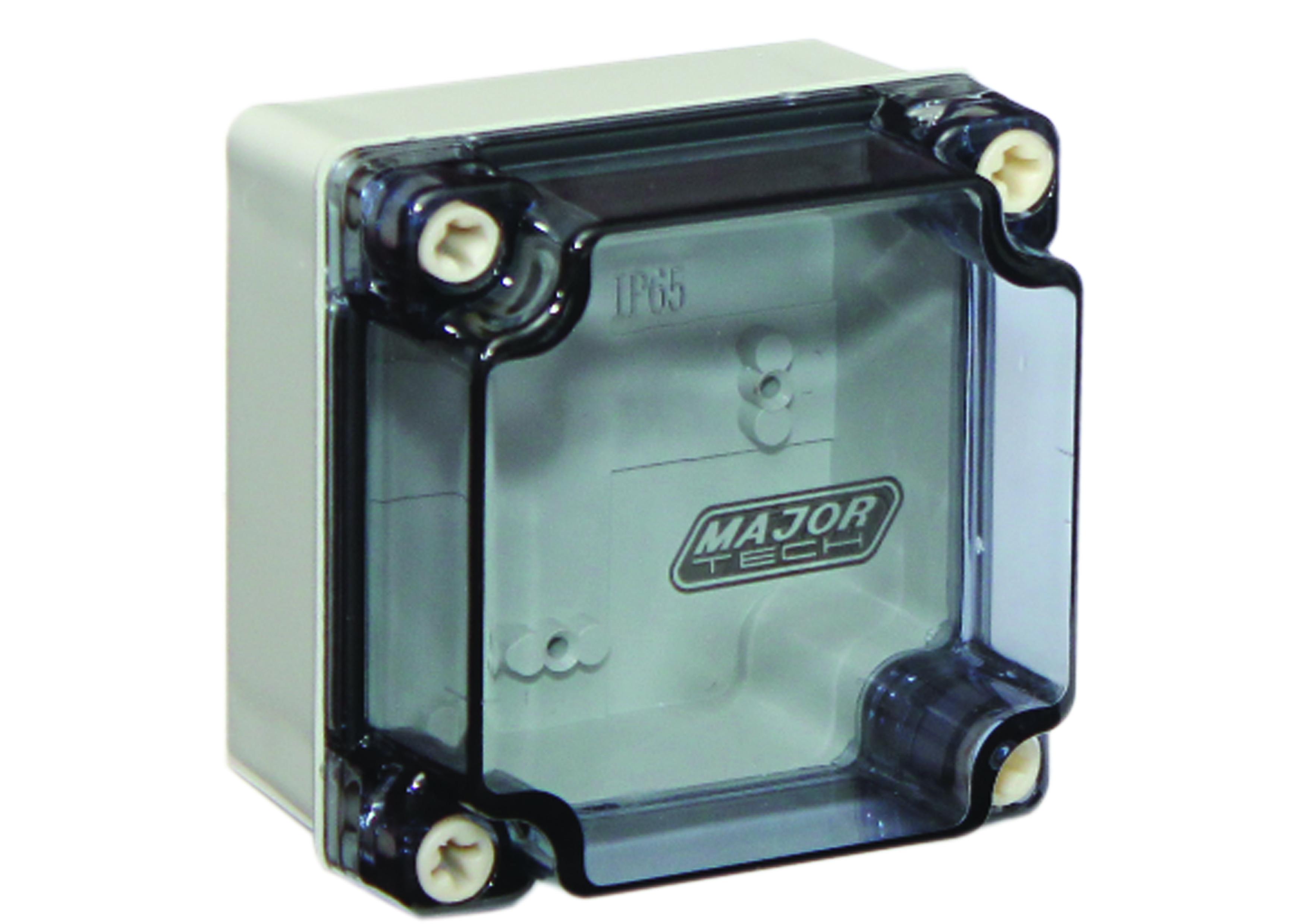 150mm x 150mm x 80mm Transparent IP65 Junction Box Pack of 2 (VW15158C) - VETi