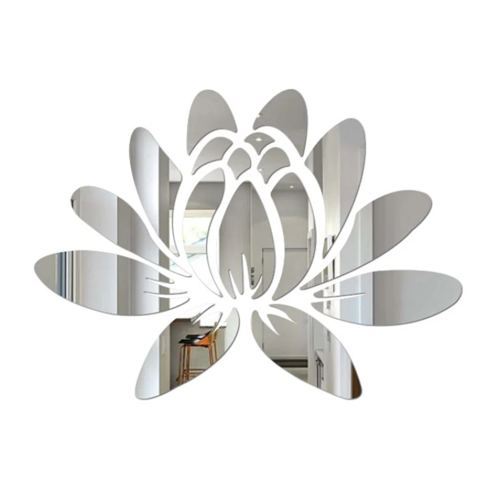 Water Lilly Mirror Wall Art: 40x26cm