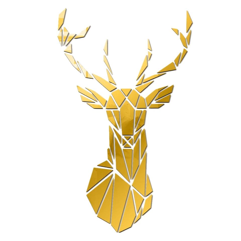 Gold Antelopes Wall Art: 26x43 cm