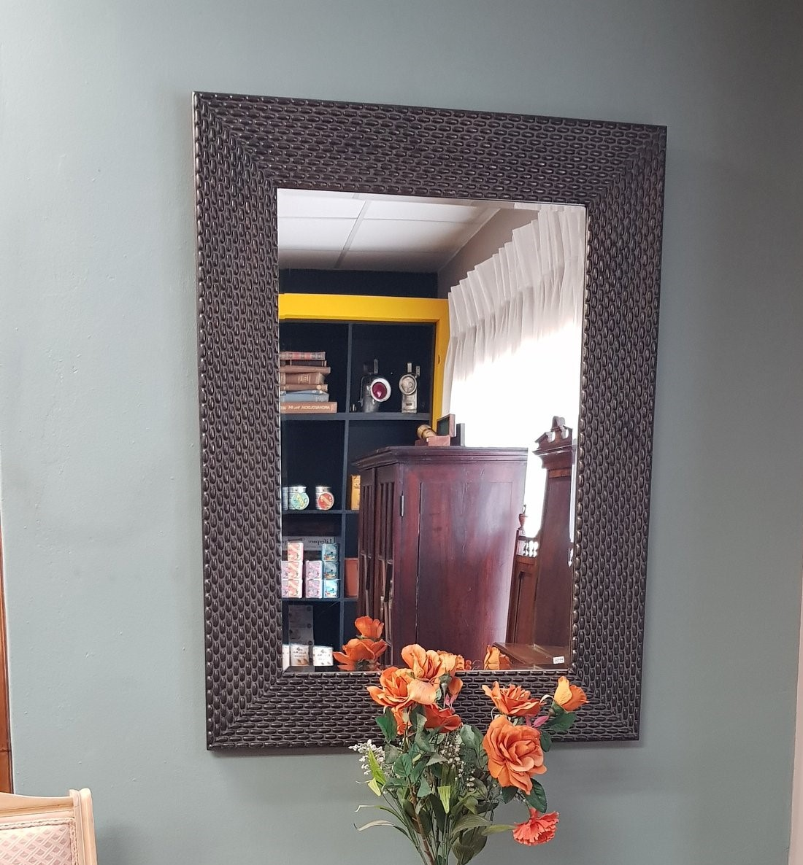 Lifespace Dark-Copper Bevelled Wall Mirror