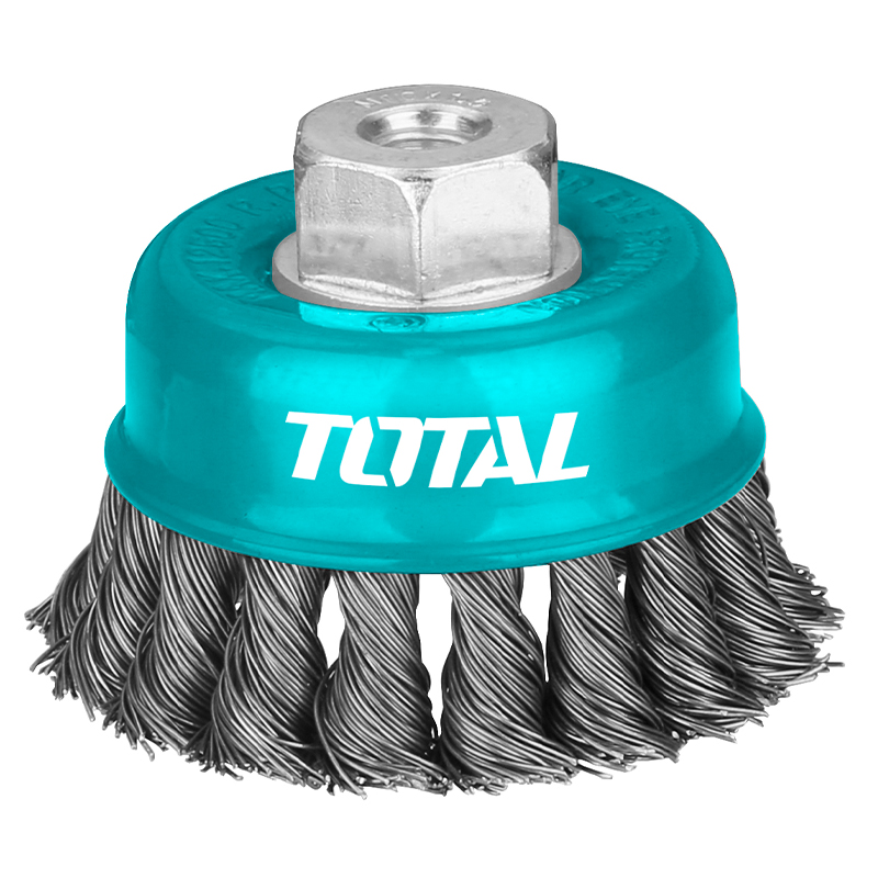 Total Tools Cup Brush 100mm Twist Wire With Nut