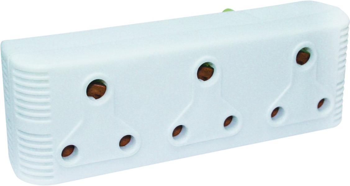3x15A Horizontal Extension Socket
