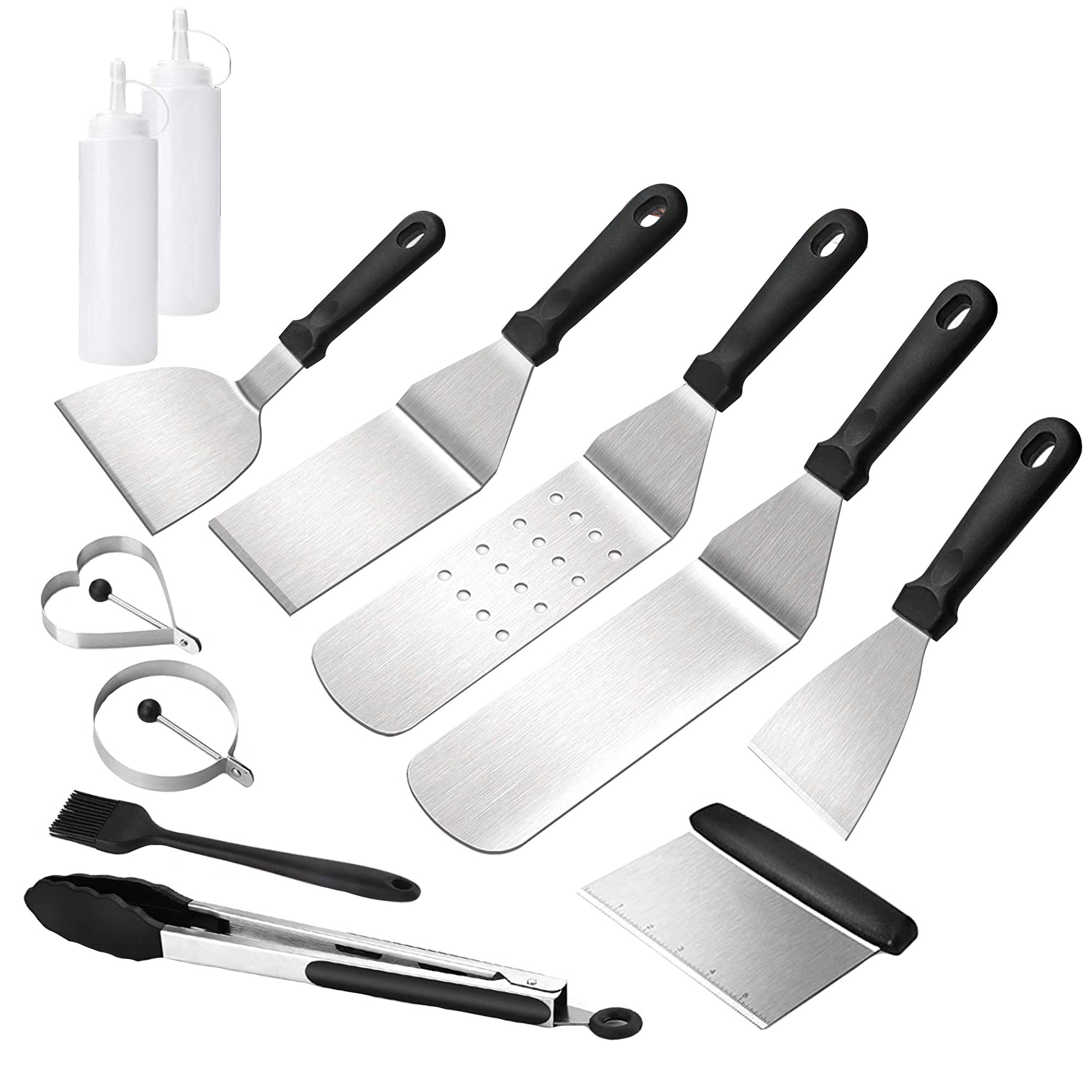 Stainless Steel Griddle Grill Utensil Set - 12Pcs