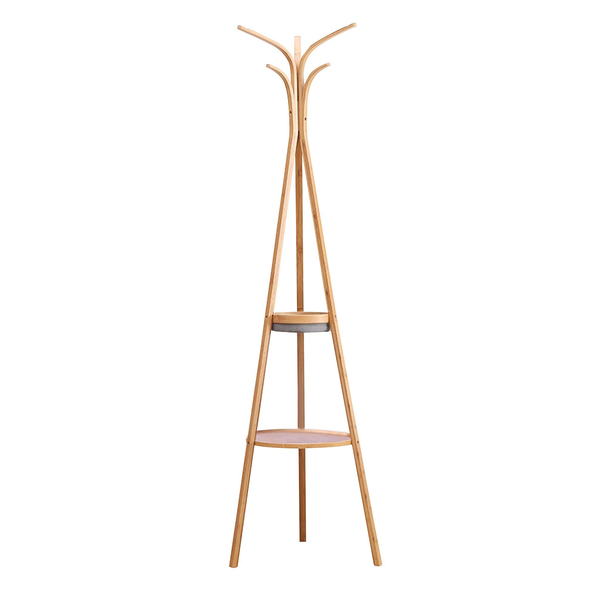 Bamboo Coat Hanger Hat Rack