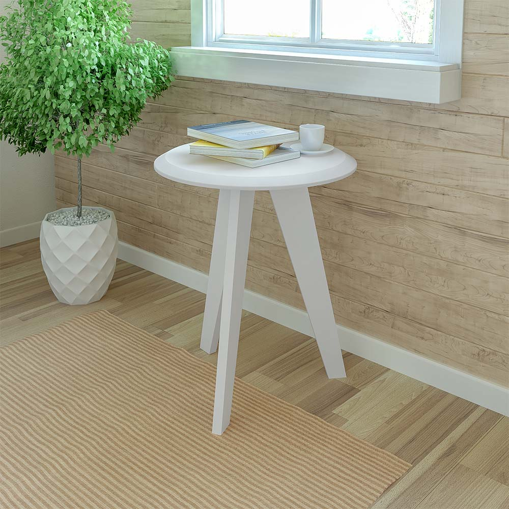 Click Furniture Ellis White End Table