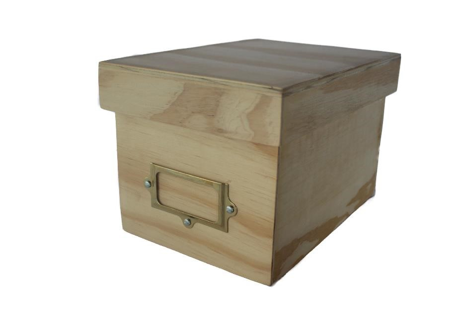 CD Box With Lid & Label - Natural