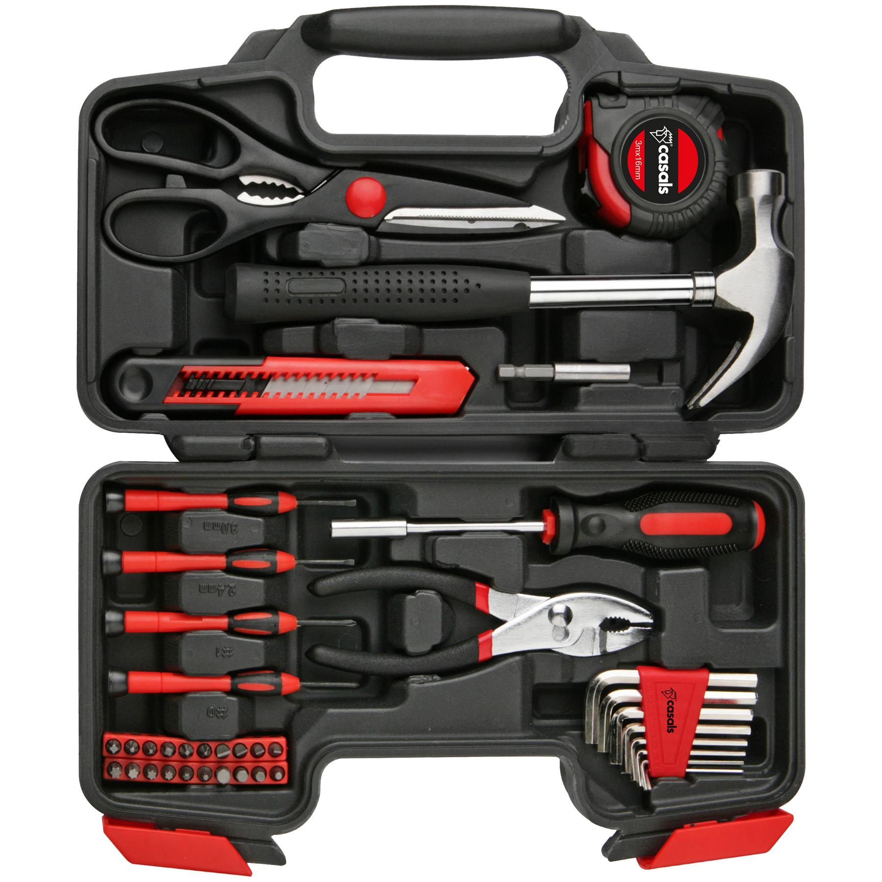 Hand Tools 39 Piece Set Steel Red