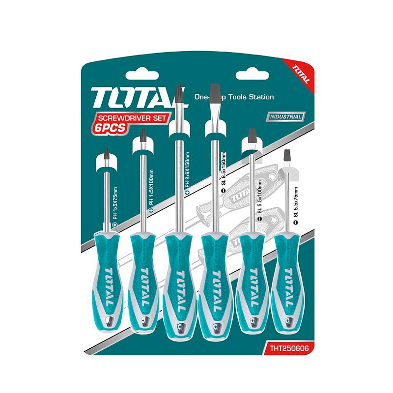 Total Tools Screwdriver Set 6Pcs