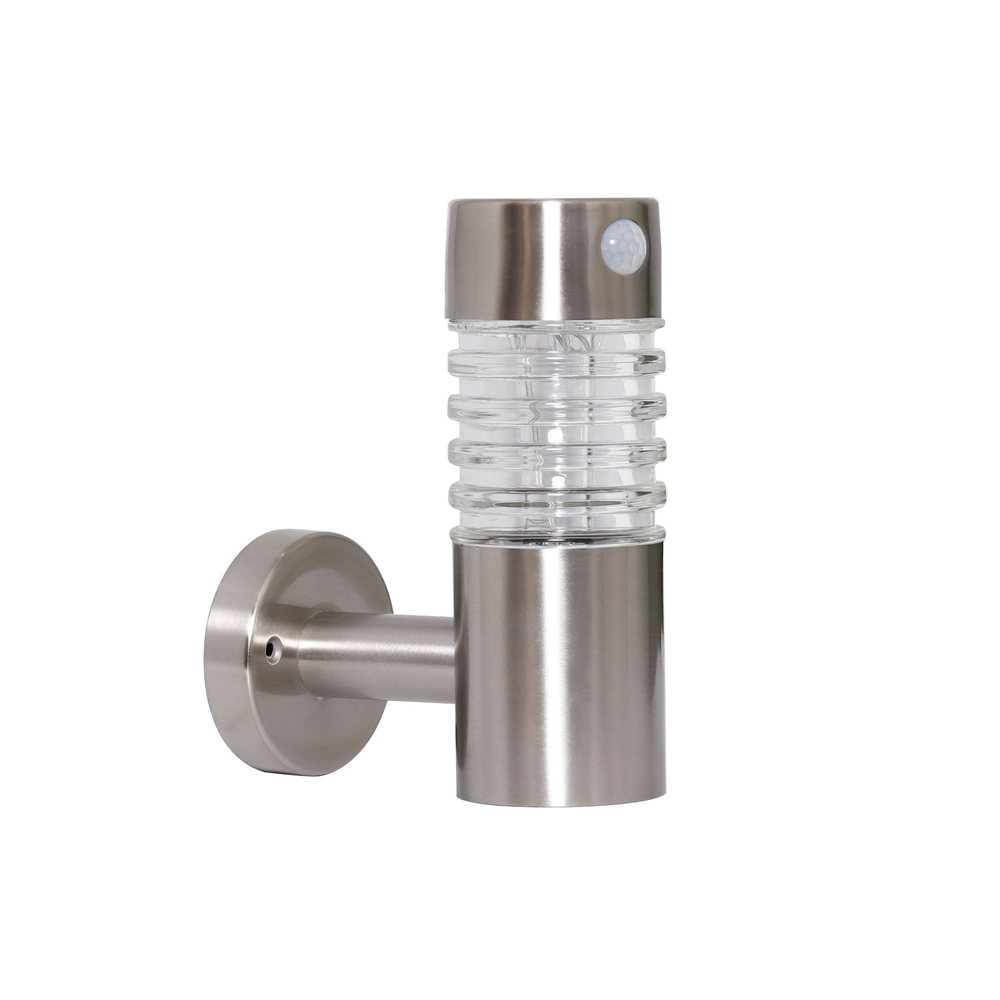 D80 Stainless Steel Wall Light with PIR 5/100 Lumens