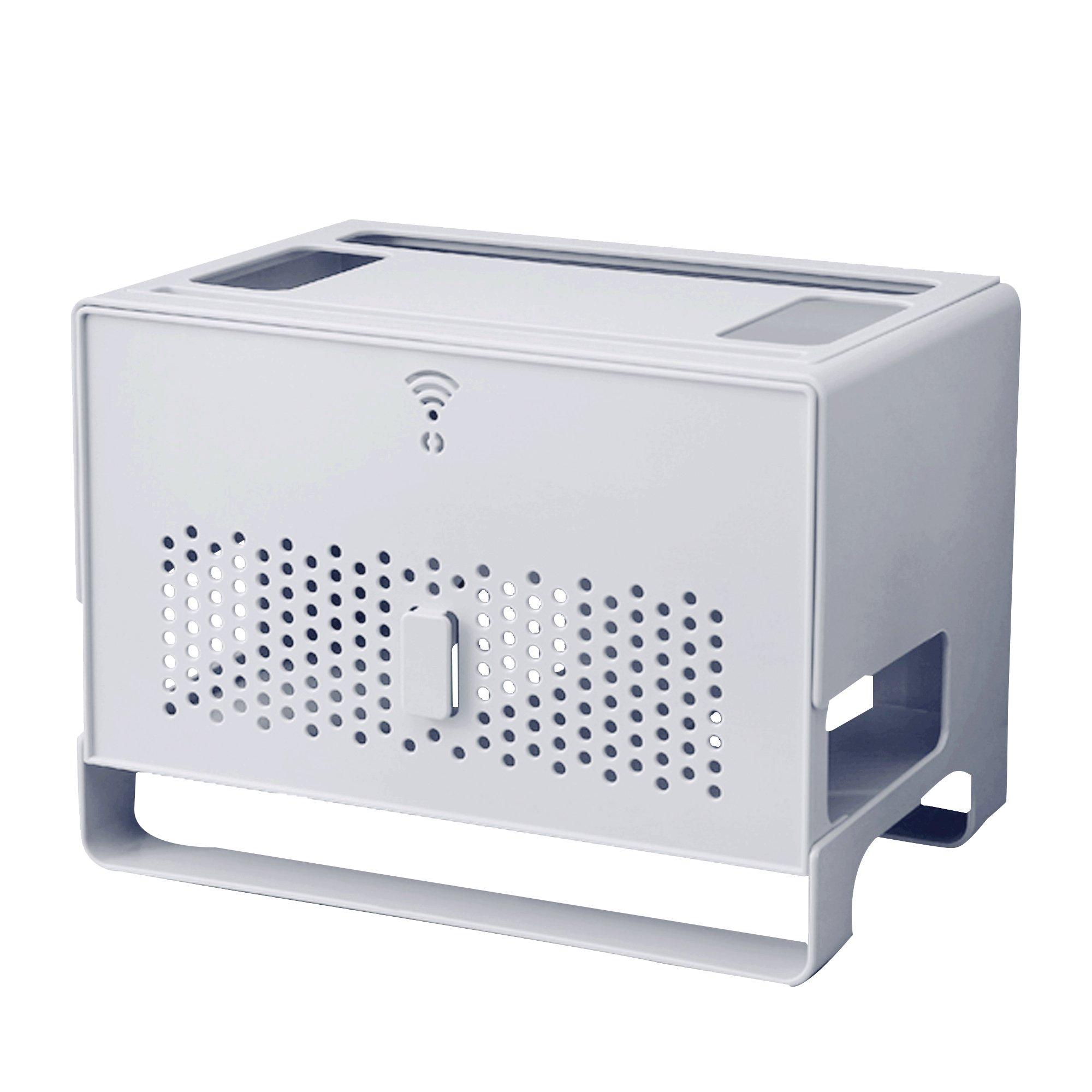 2 Tier WIFI router Extension Cord Organizer