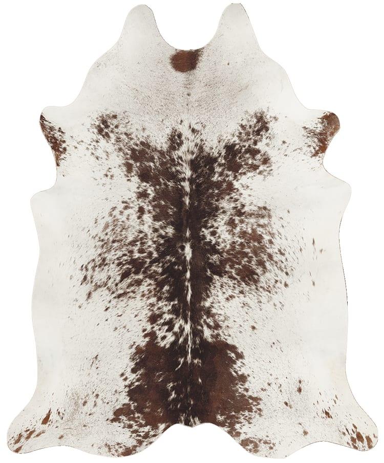 Rugs Original Animal Faux Hide Cream and Dark Brown