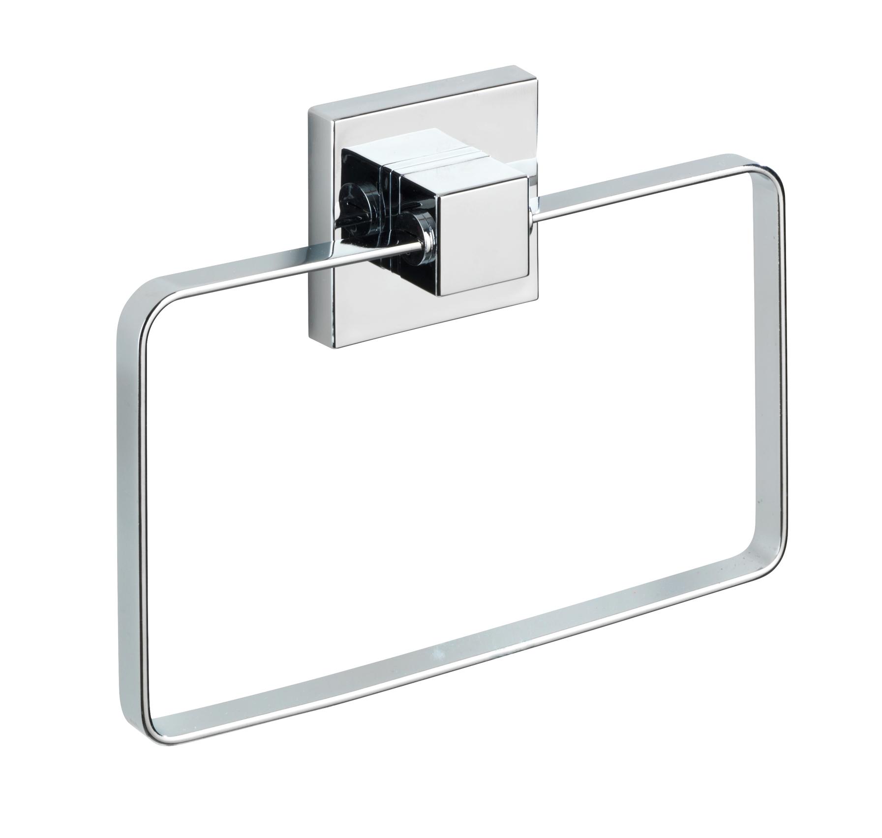Wenko - Vacuum-Loc® Towel Ring Quadro Range - S/Steel