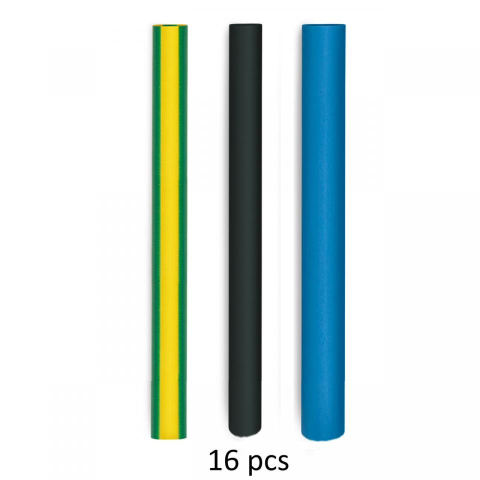 Steinel Heat-shrinkable tubing set for electrical installations - Heat Shrink 16 Pieces - German quality