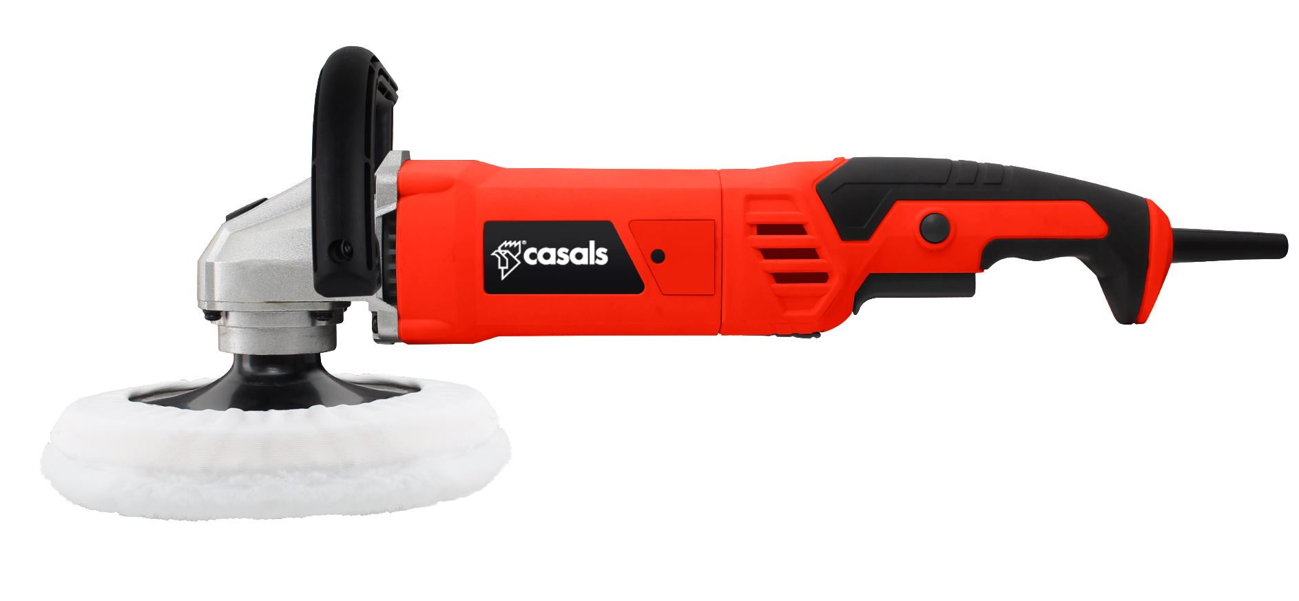 Casals Sander Polisher With Auxiliary Handle Plastic Red 180mm