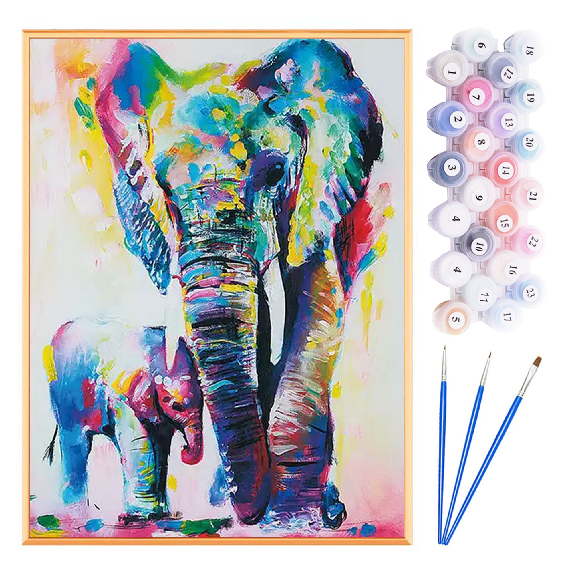 Paint by Numbers Acrylic Painting DIY Kit - Flamingo