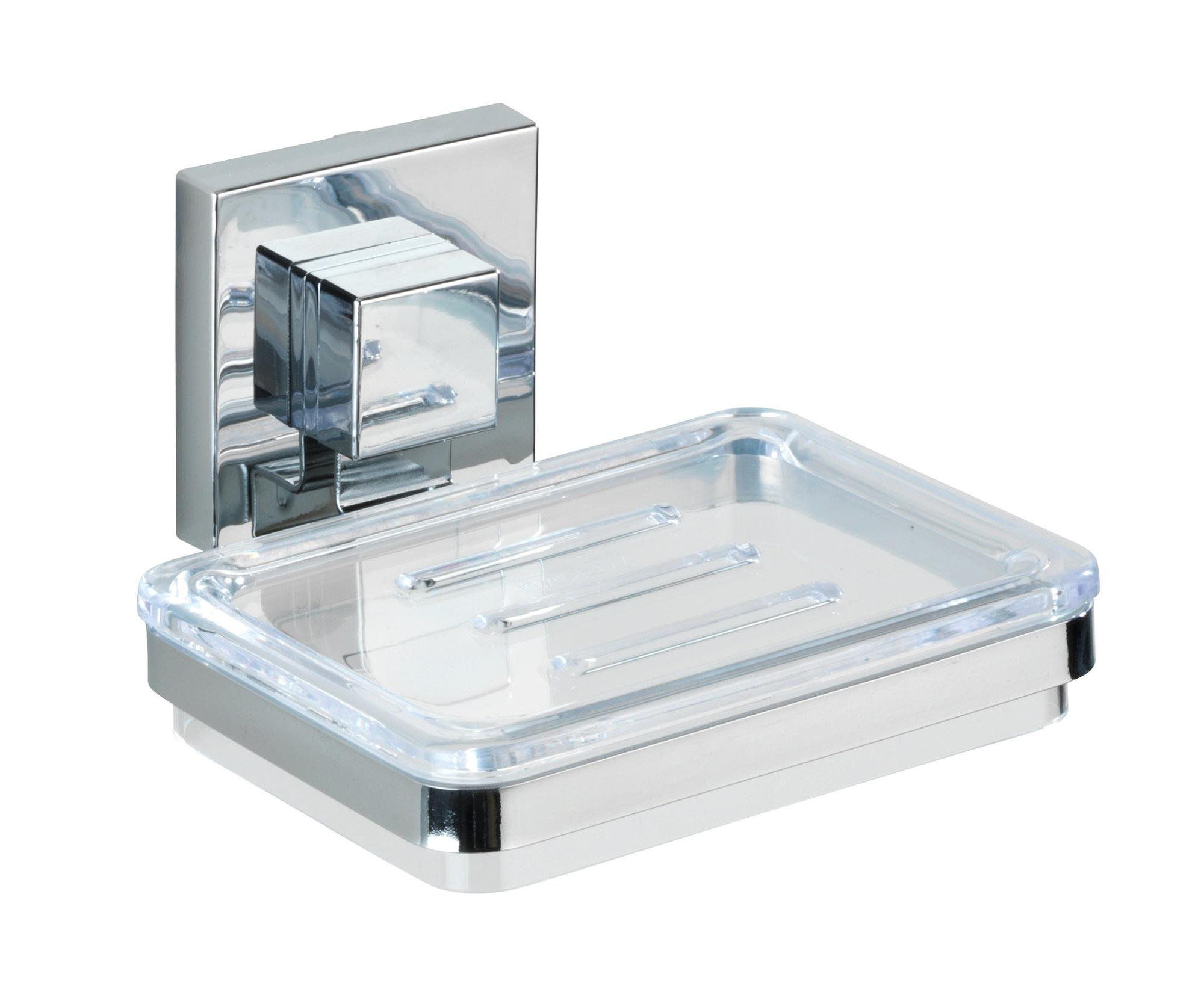 Wenko - Vacuum-Loc® Soap Holder Quadro Range - S/Steel