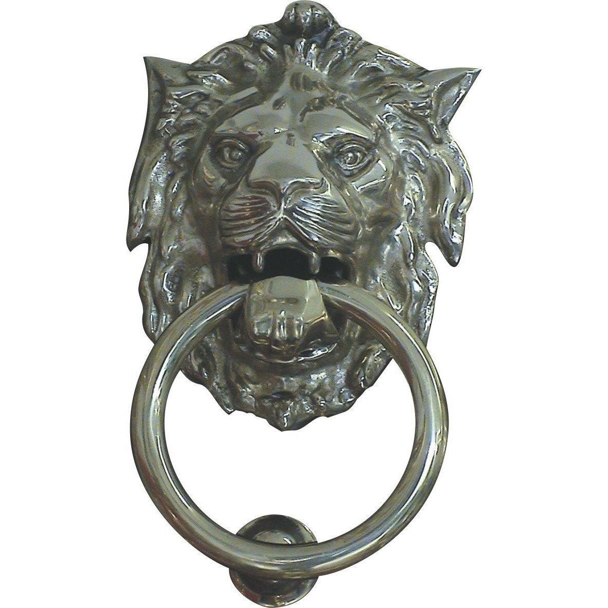 Lion head door knocker