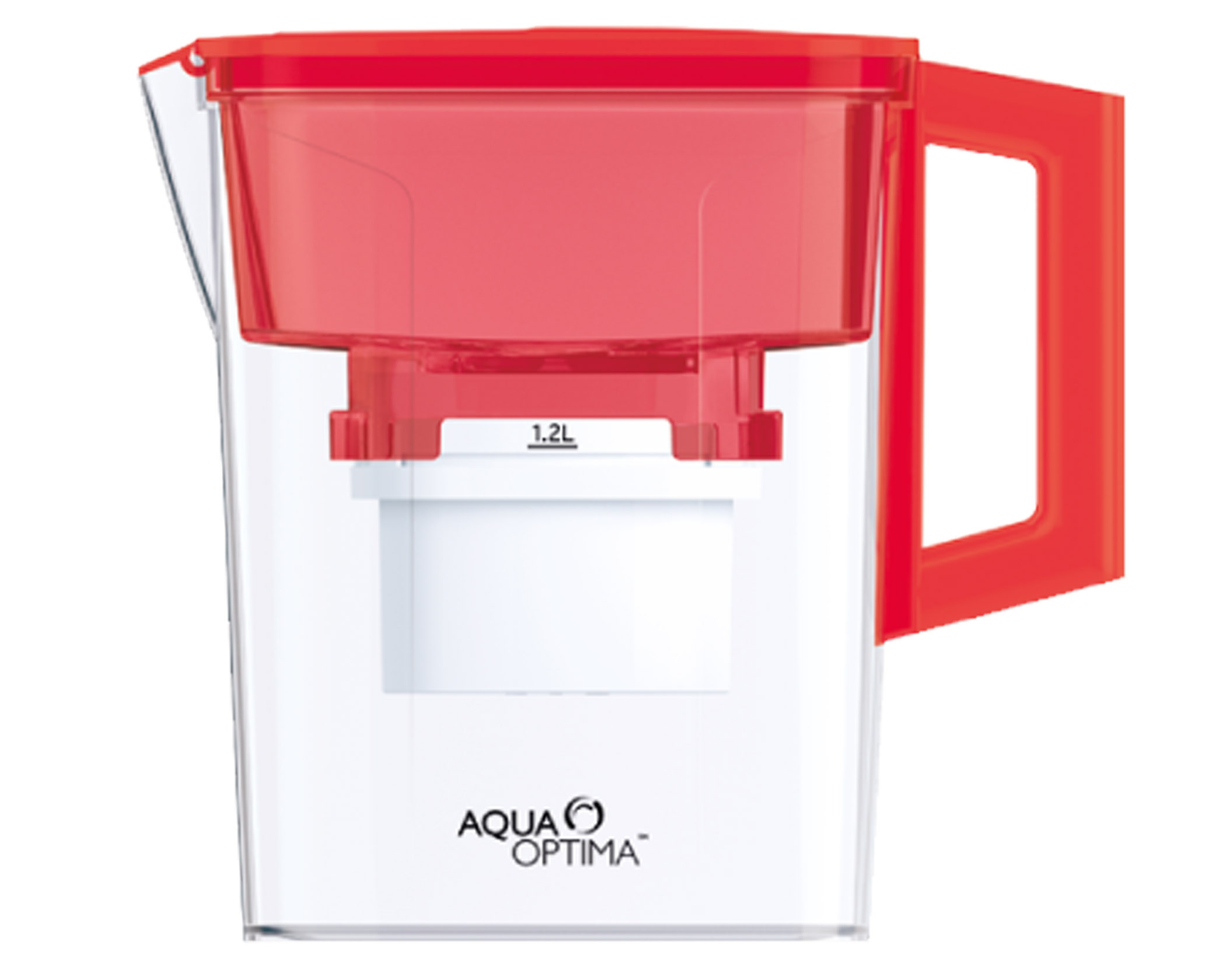 """Aqua Optima Water Jug With 30 Day Filter Plastic Red 2. """"Compact"""""""