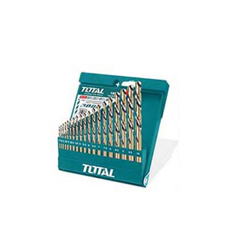 Total Tools HSS Twist Drill Bits Set 19Pcs