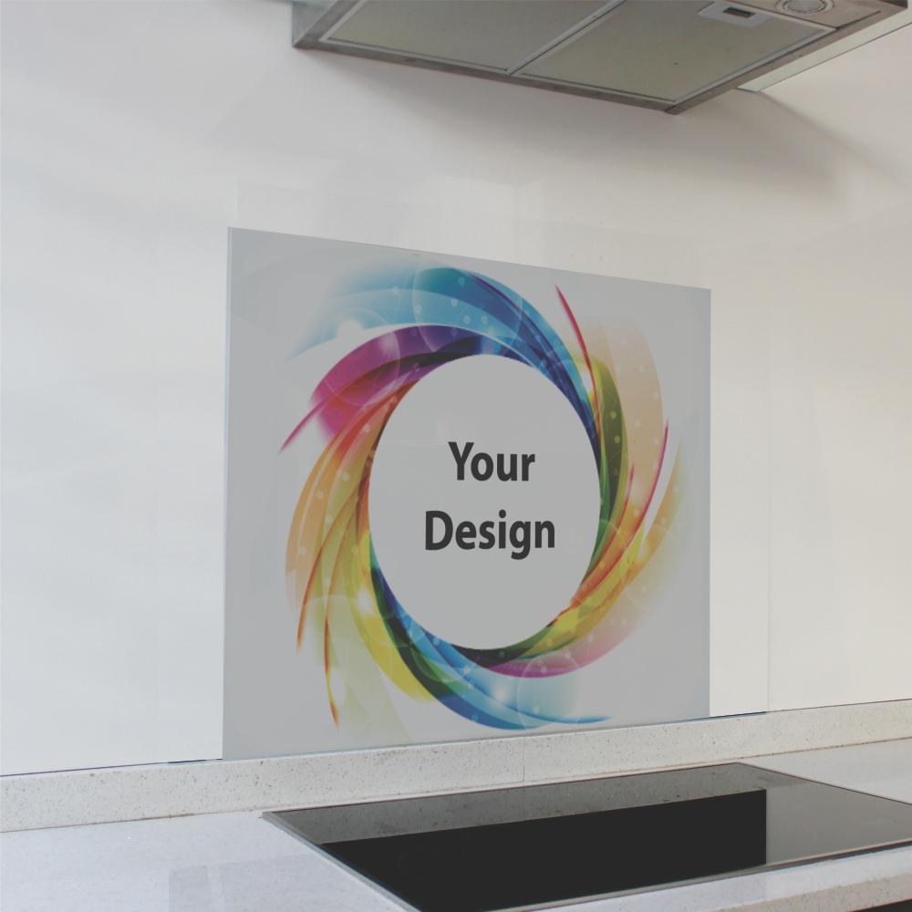 Customized Print Glass Splashback (598 x 650 x 6mm)