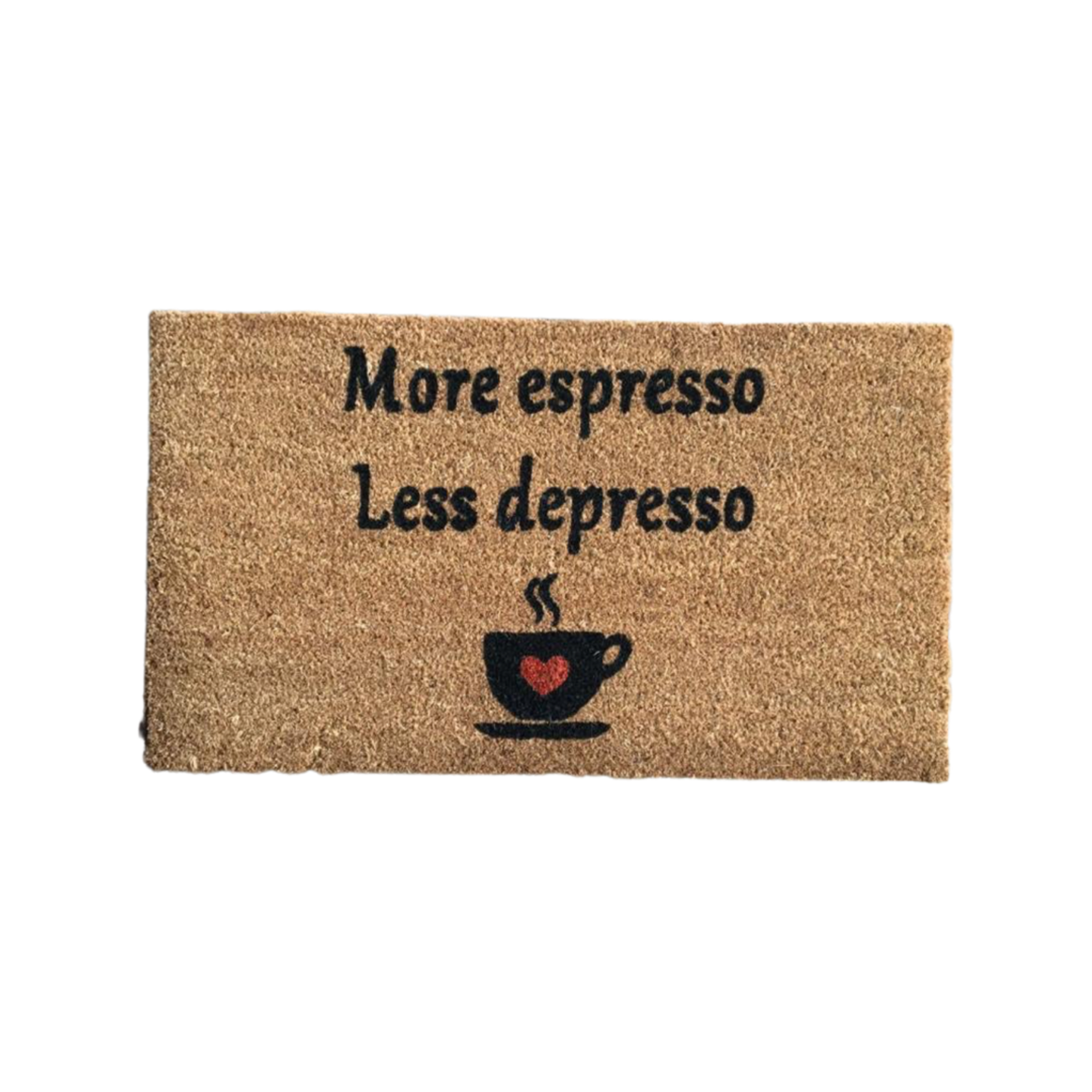 Matnifique Coir Doormat - Espresso Design 700 x 400 x 14mm