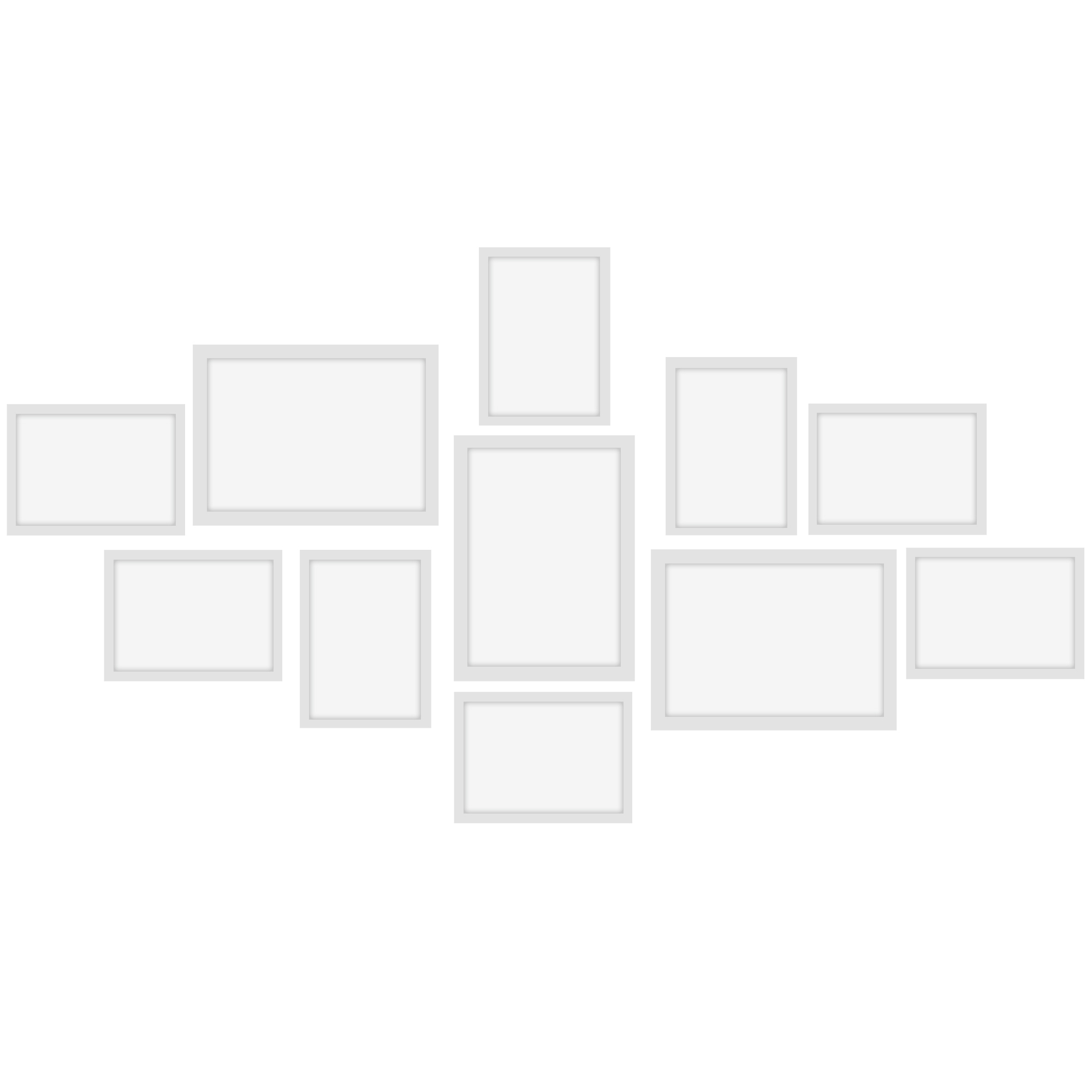 11Pcs Photo Frames Set-White