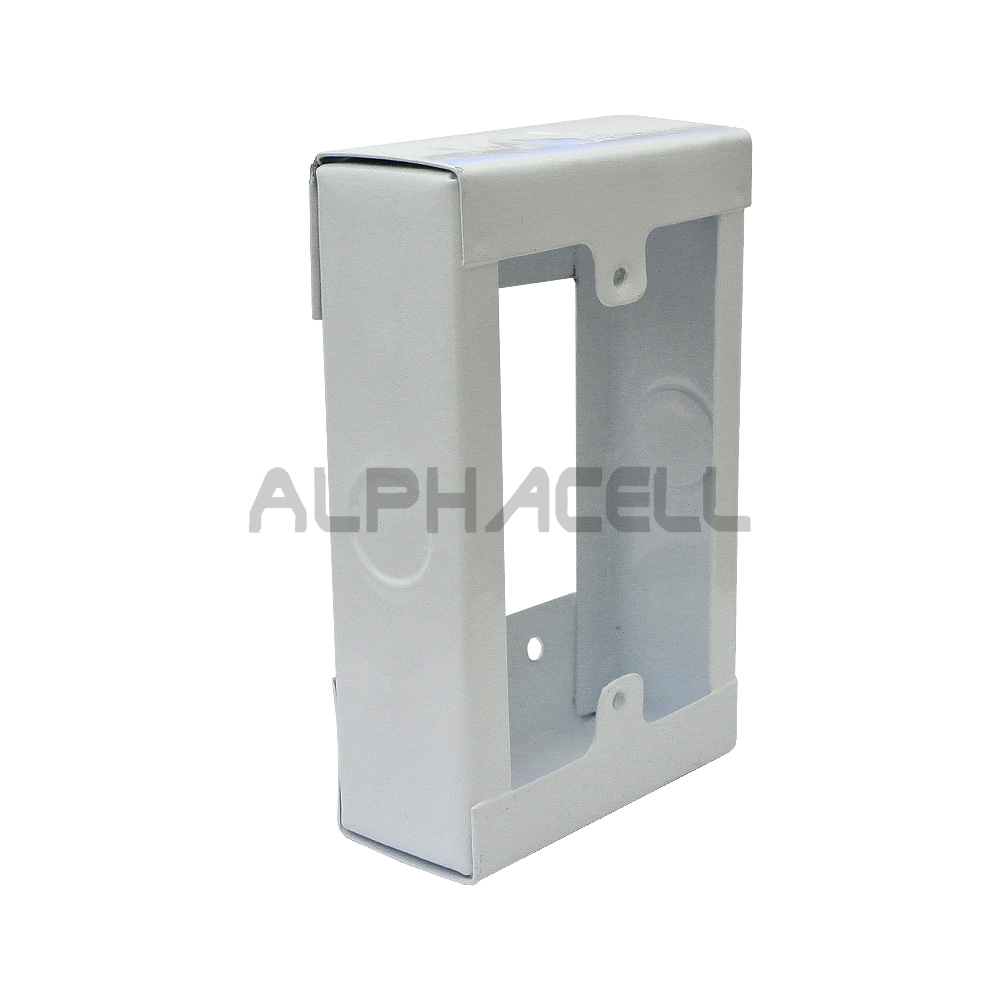 Wall Box 4X2 Extension Open- White Steel