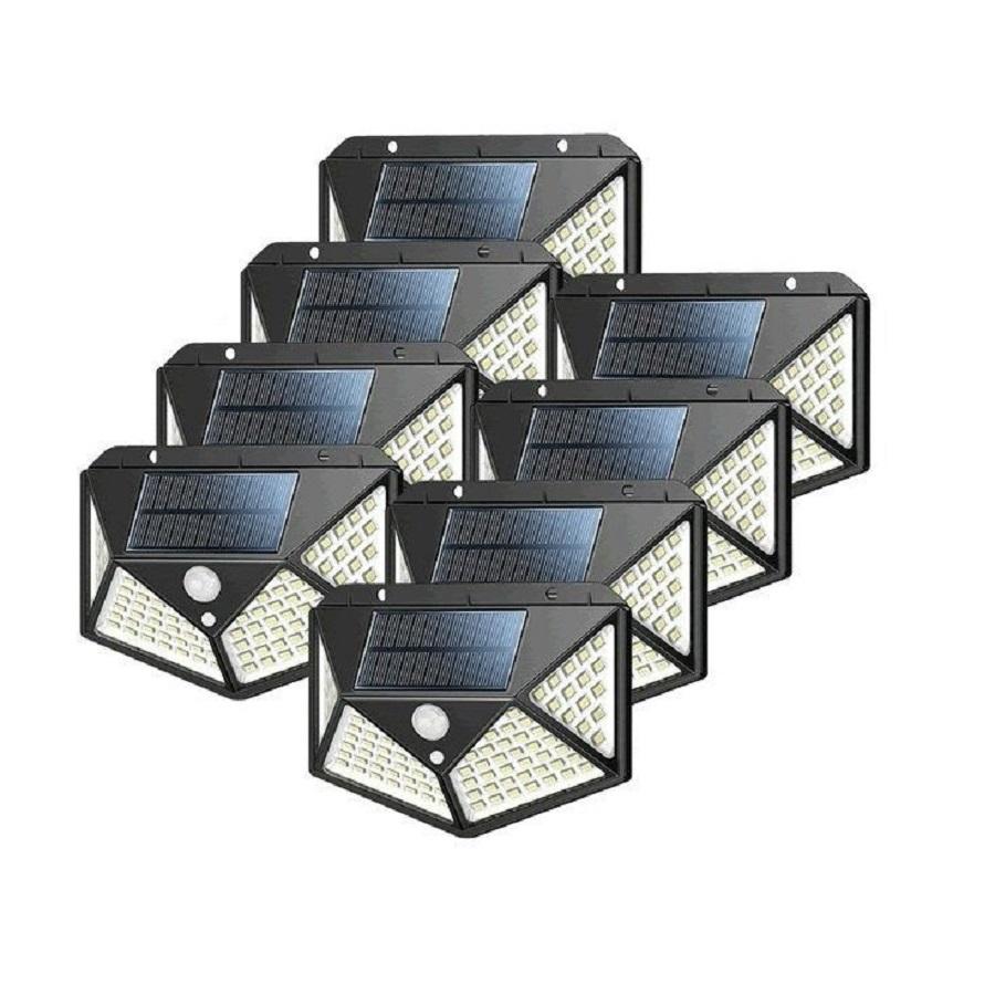 8PCS 100 LED Outdoor Solar Powered Light With Motion Sensor