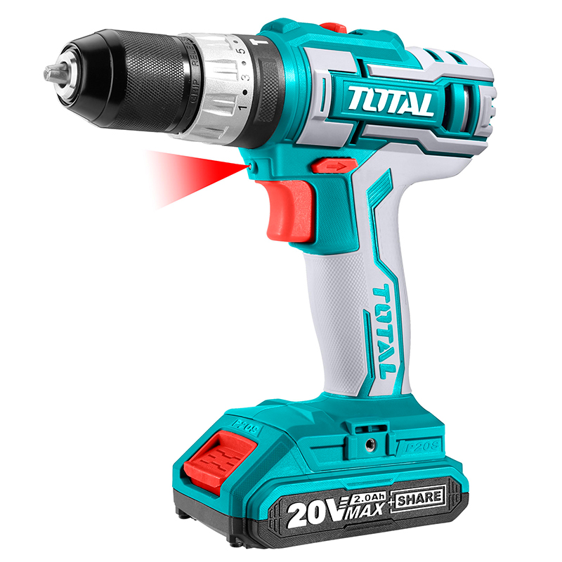 Total Tools 20V Lithium-Ion Industrial Impact Drill Set