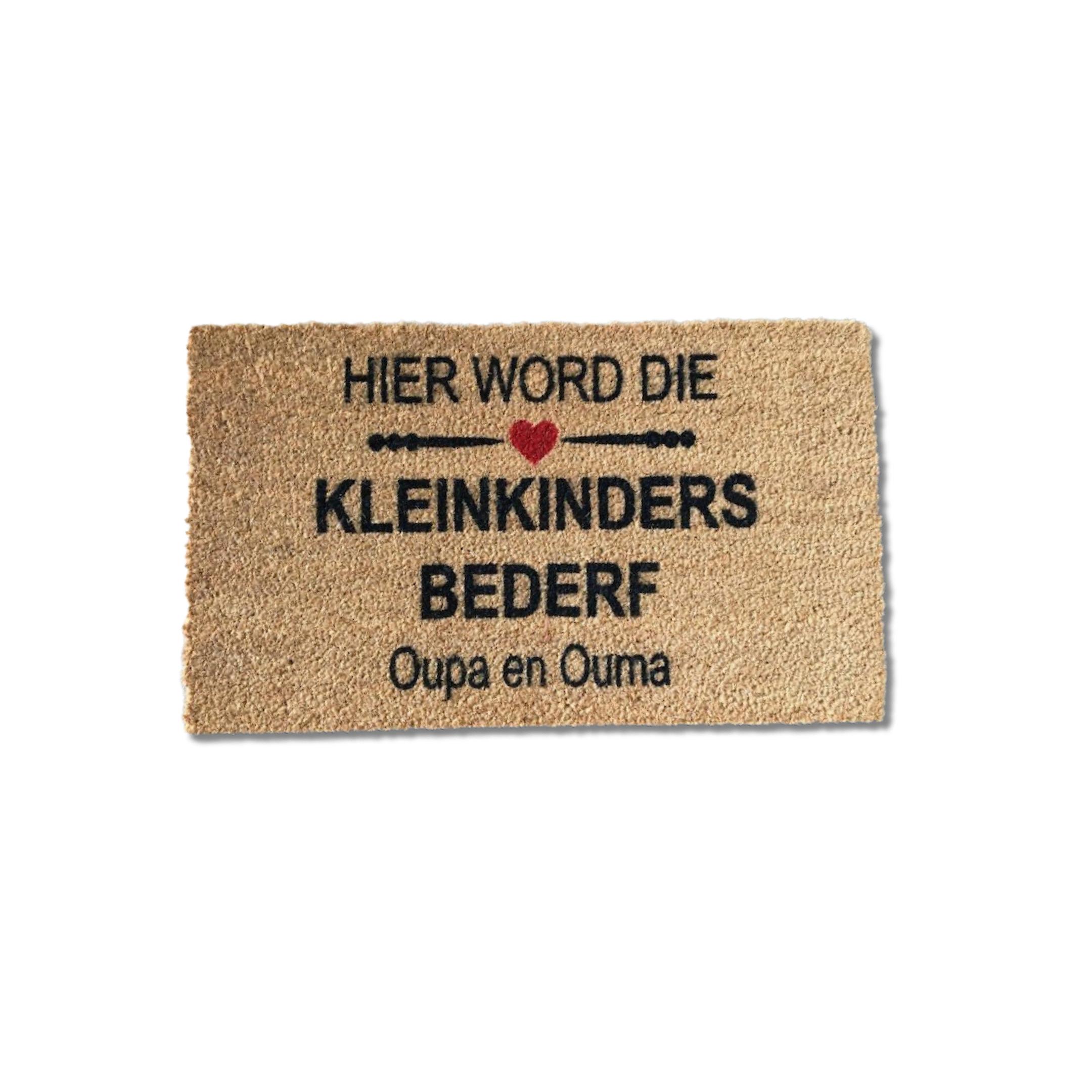 'Matnifique Coir Doormat - Kleinkinder Bederf 'Matnifique Coir Design Doormat - Kleinkinder Bederf Design 700 x 400 x 14mm