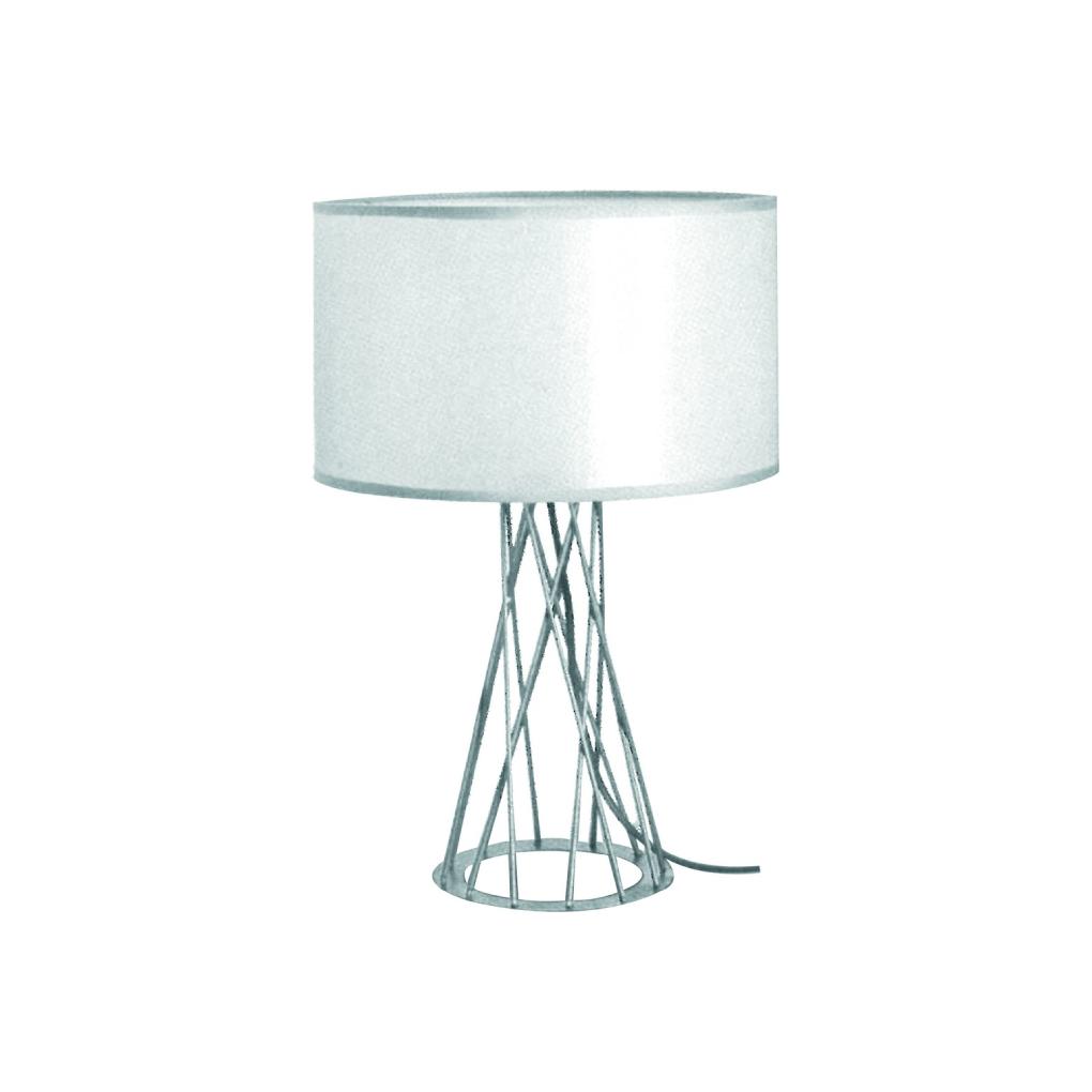 Scandinavian Table Light - White Drum Shape