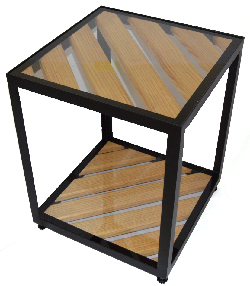 Acero - Side Table - Steel and Wooden Design