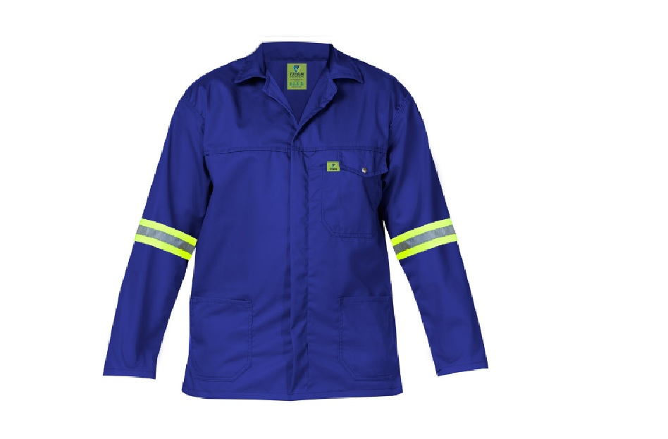 Titan Premium Royal Blue Workwear Jacket (with Reflective) - 2x Large