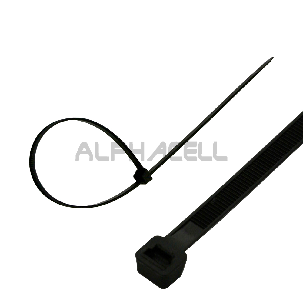 CABLE TIE - 400mmx7.2mm BLACK (100) Z