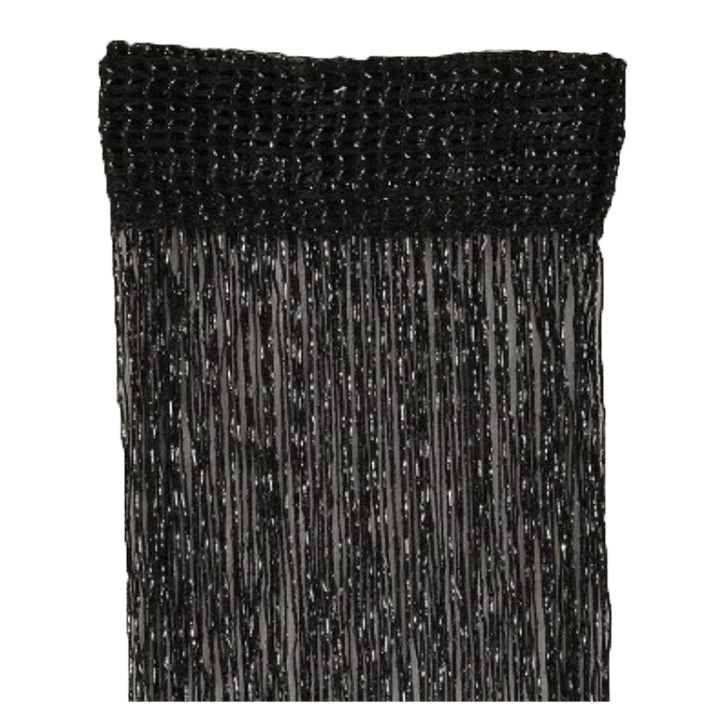 Matoc String Curtain - Black with silver specks (2pack)