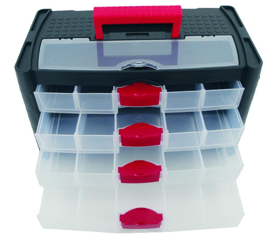 4-drawer Storage Box - size 415 x 225 x 240mm