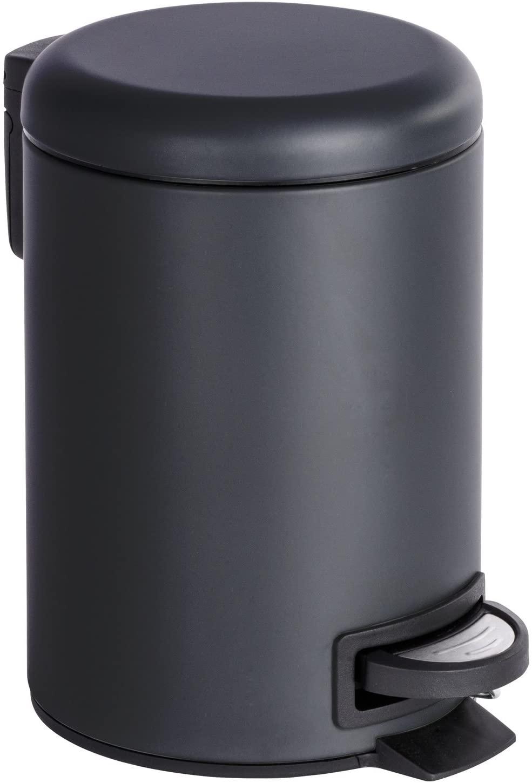 Wenko - 3L Pedal Bin - Leman - Matte Black