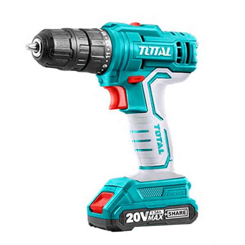 Total Tools 20V Lithium-Ion Cordless Drill Set