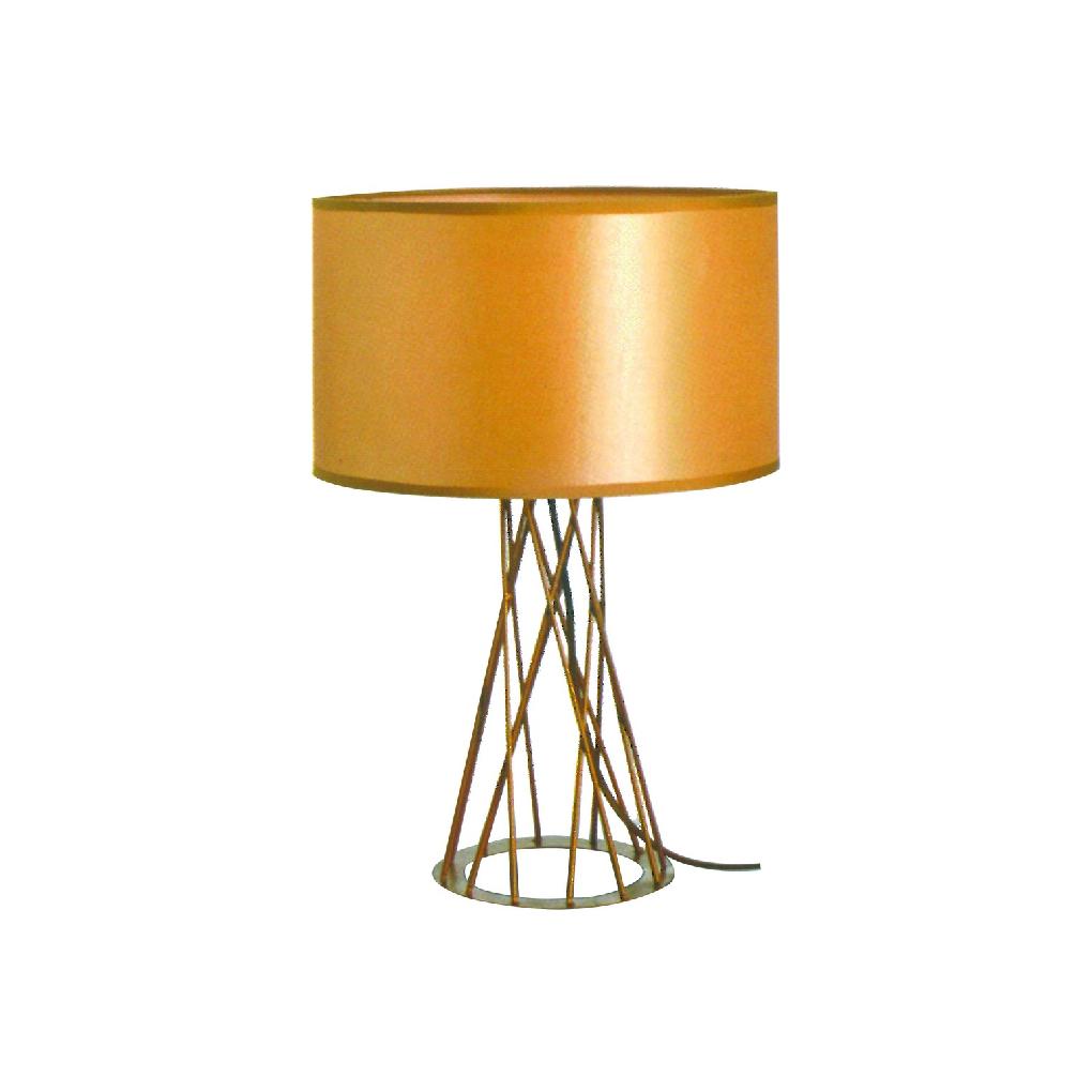 Scandinavian Table Light - Gold Drum Shape