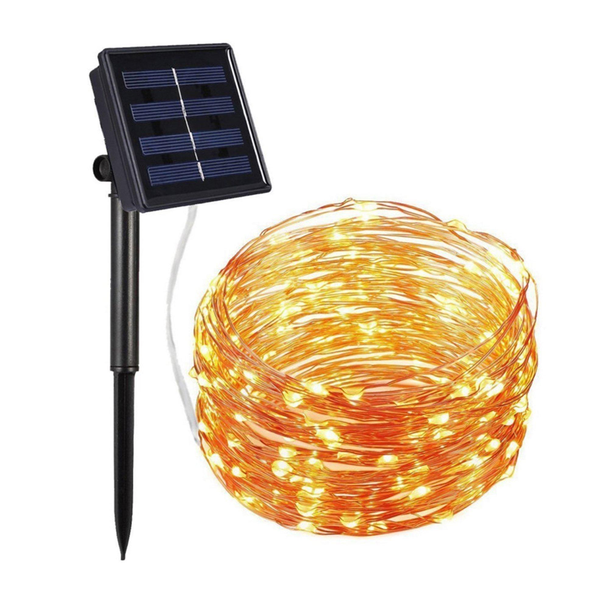 Solar Powered LED Fairy Lights String 12 Meter