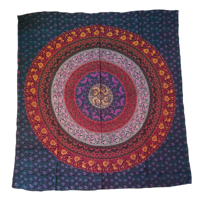 Multi-Colour Mandala Tapestry