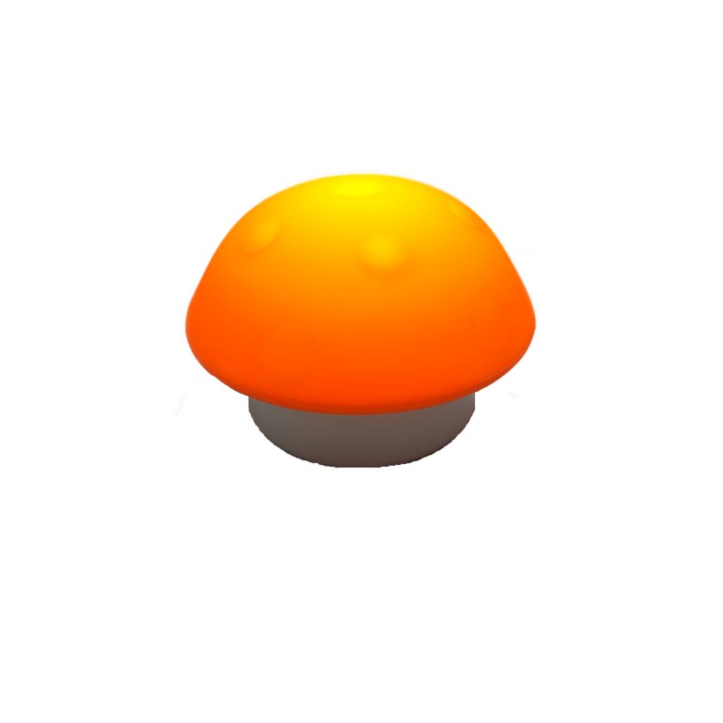 LED Mushroom Shaped Night Light - Orange