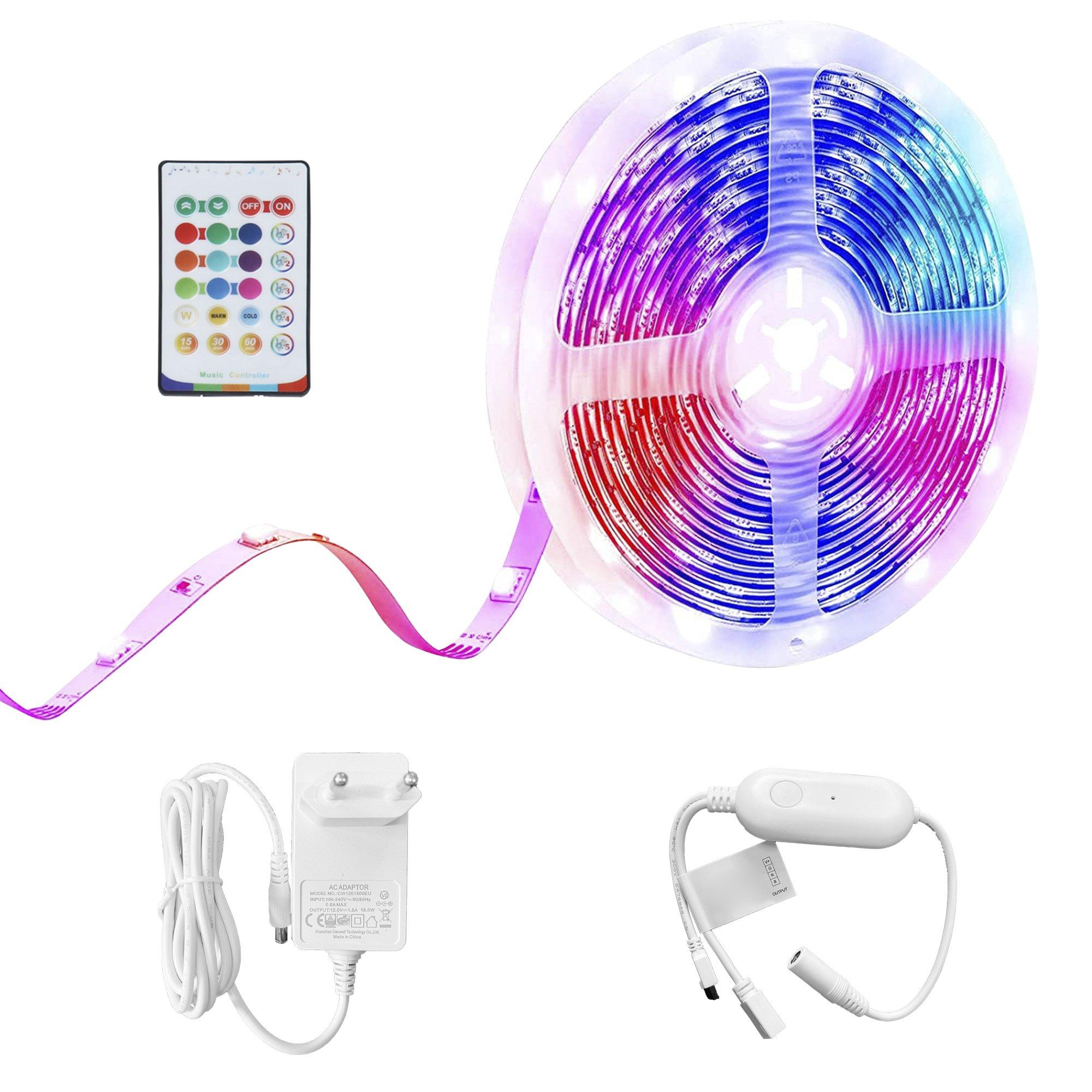 Music Sync LED RGB Light Strip - 5m