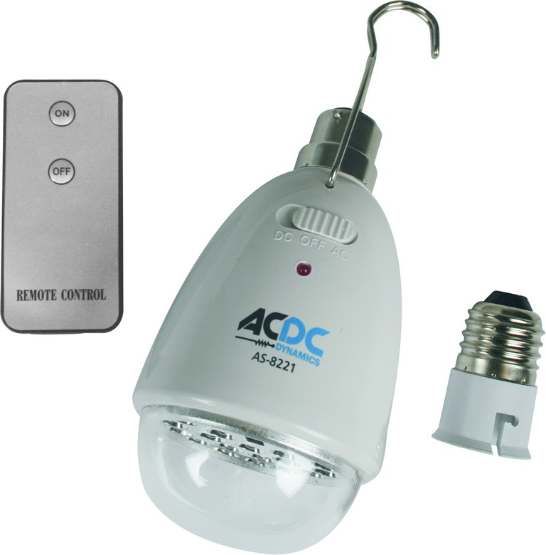 22 LED Rechargeable Lamp with Remote for B22 & E27