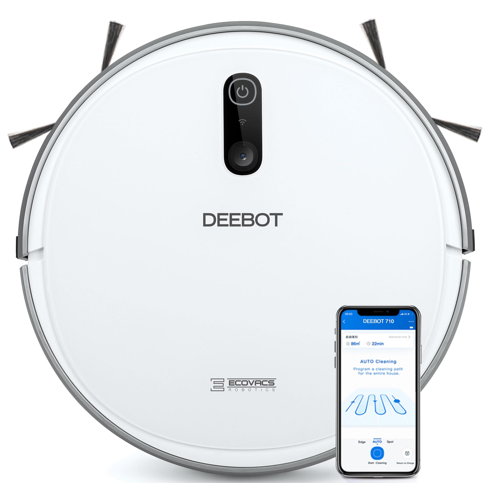 Ecovacs Deebot 710 Robot Vacuum Cleaner - Smart Navi 2.0, 110min Runtime