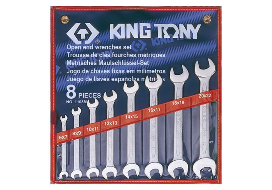 KING TONY – SPANNER SET 8PC DOUBLE OPEN 6-22MM