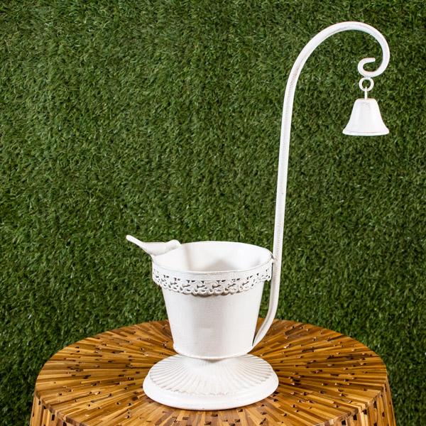 Garden Patio Pot Stand Bell