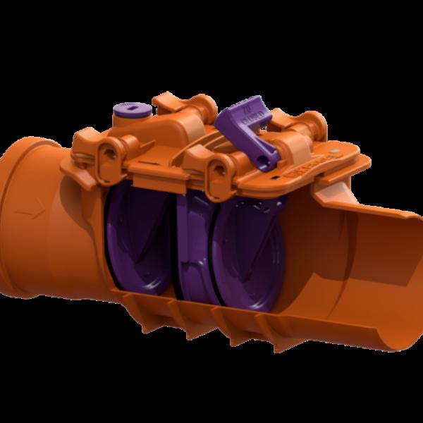 "EDT EuroDrain KESSEL 110mm Double Flap ""StauFix'' Non-Return  Valve Art.Nr 73100"